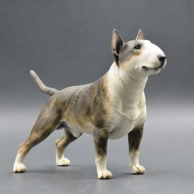 bull terrier model ornaments resin crafts simulation gift car dog