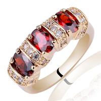 Mix Order Lots 5 Pieces 925 Sterling Silver Rings Red Garnet Wholesale Jewelry Size& Color Seleltable Support Customization MX5