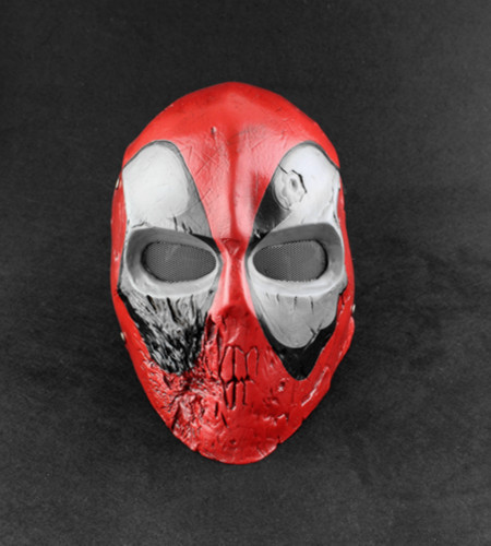 Scary Skull Deadpool Mask Horror Halloween Party Masquerade Masks Eco friendly Resin Cosplay Prop 11*6.7 inch
