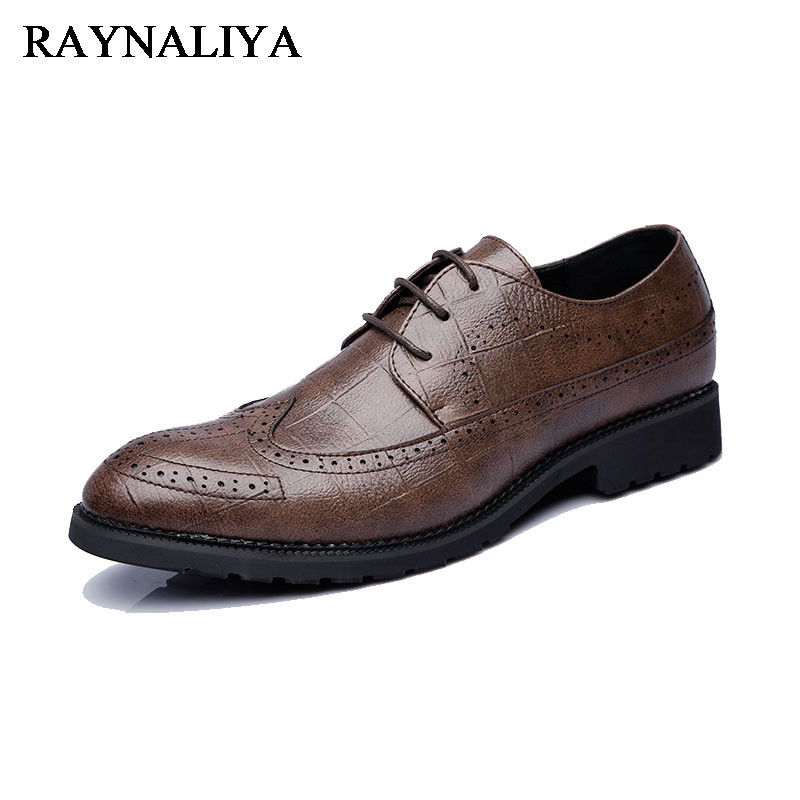 New Spring Fashion Oxford Business Men Dress Formal Shoes Leather High Quality Soft Casual Breathable Men Flats Shoes LJG-B0013 men shoes tide shoes casual fashion oxford business men shoes leather high quality soft casual breathable men s flats man shoes