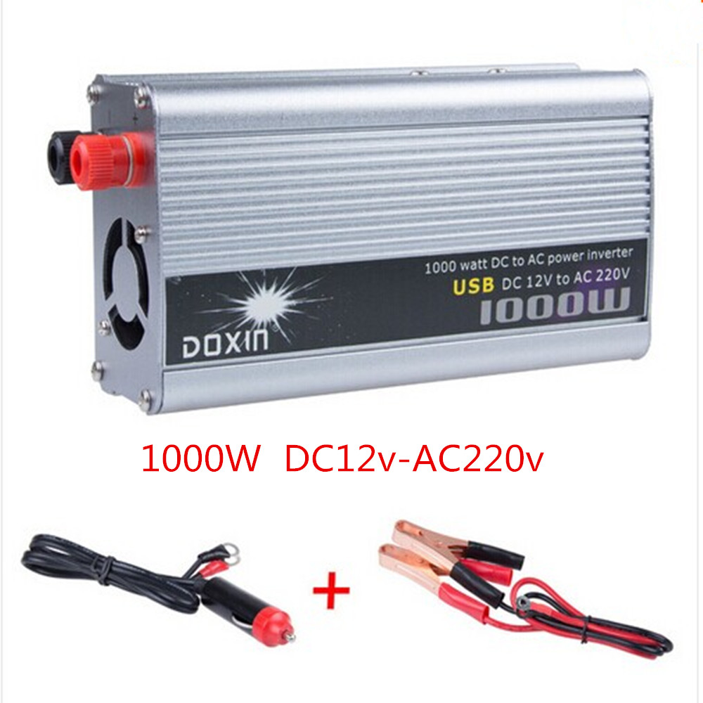 1000W 12V/220V USB Modified Sine Wave Power Inverter Charger Converter for Car Auto DC 12 to AC 220 high quality dc 12 to ac 220 modified sine wave 1000w dc12v to ac 220v car power inverter with usb charger converter adapter