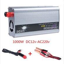 1000 Вт 12 В / 220 В USB модифицированная синусоида инвертор зарядное для авто DC 12 в переменное 220