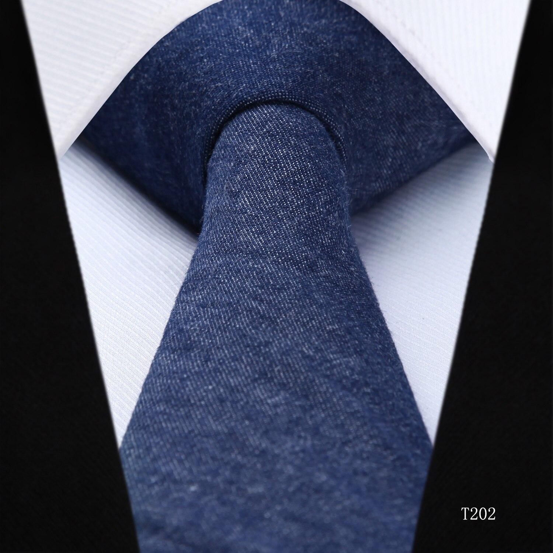 """6 Cm Soild 2.36 """"cotton Skinny Tie Per Gli Uomini Di Nozze Partito Gravatas Sottili Corbatas Stretto Tessuto Uomini Classici Cravatta Per Vincere Una Grande Ammirazione"""