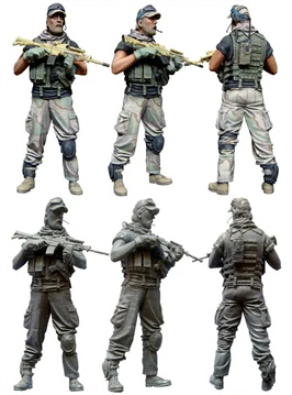 1/35 Scale Unpainted Resin Figure U.s.special Forces Operator A Regular Tea Drinking Improves Your Health