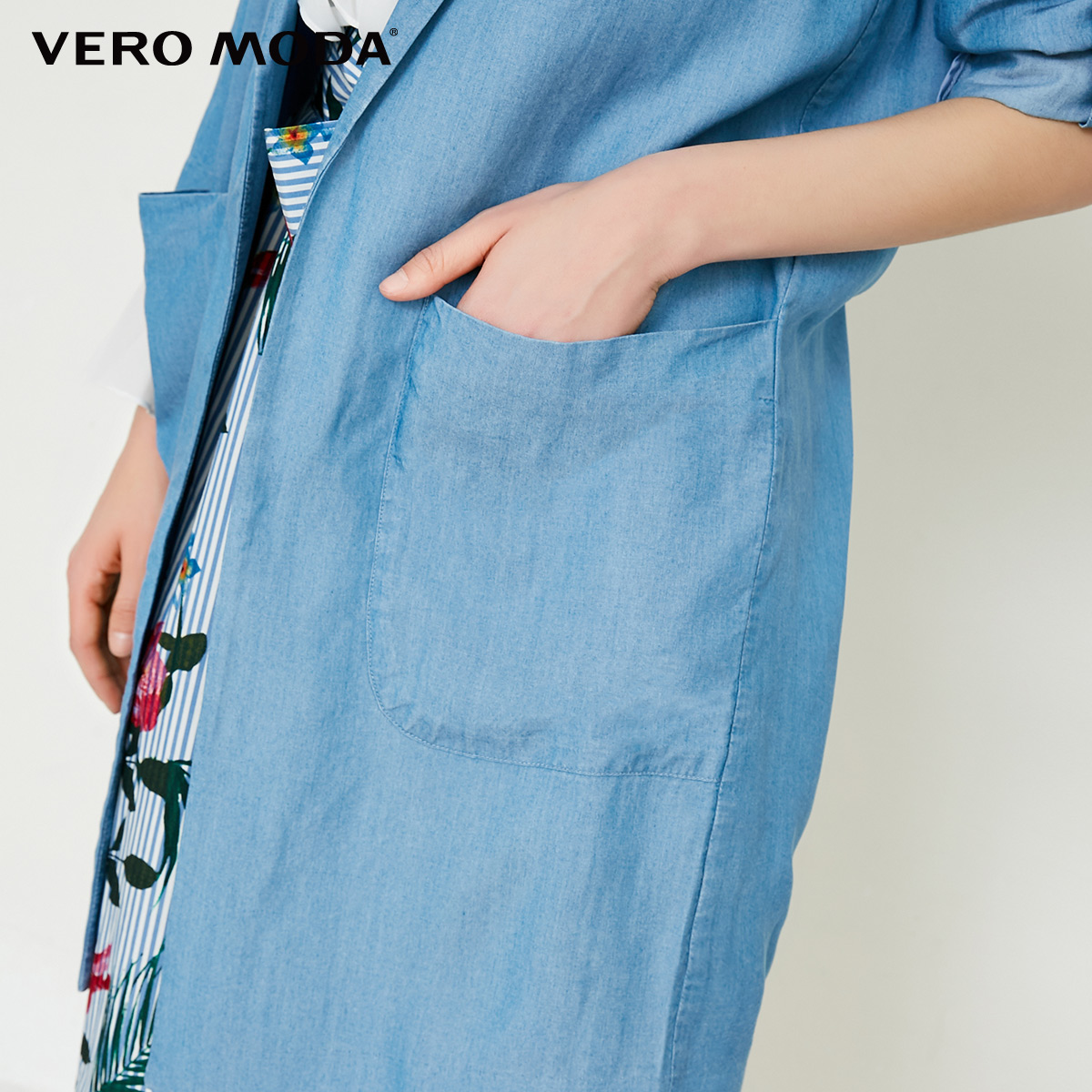 Vero Moda Women's Spring & Summer Long Denim Blazer  318155501