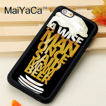 """A wise man…"" beer quote case for iPhone 6 6S Plus 7 7 Plus 5 5S 5C SE 4 4S"