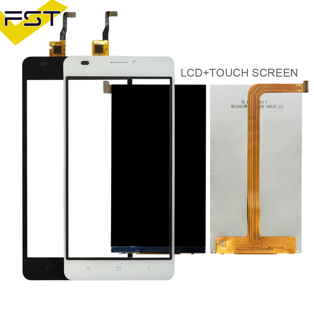 Black/White For Oukitel C3 LCD Display+Touch Screen Digitizer Replace Parts For C3 Lcd Glass Sensor+Tools