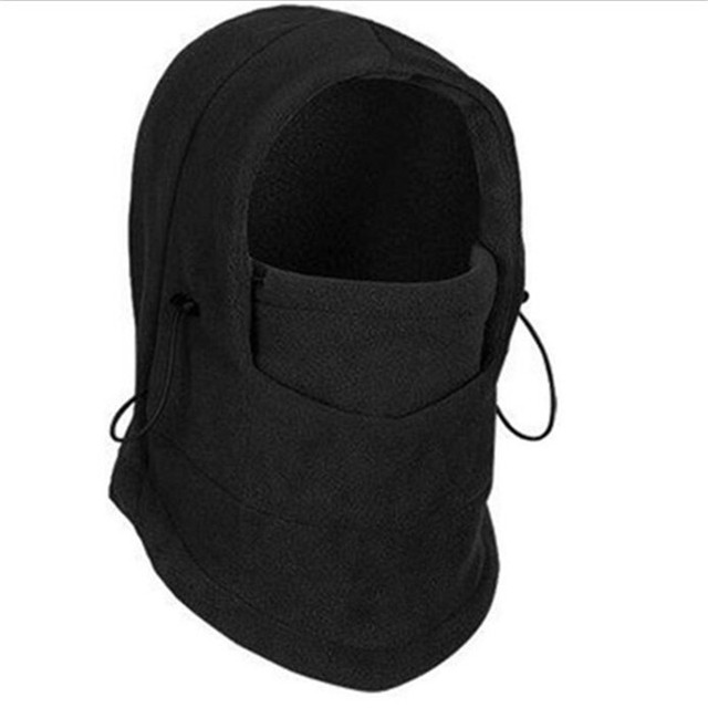 Black Sport Cycling Thermal Warm Fleece Men's Balaclava Veil Windproof Face Mask Hats Ski Snowboard Balaclava