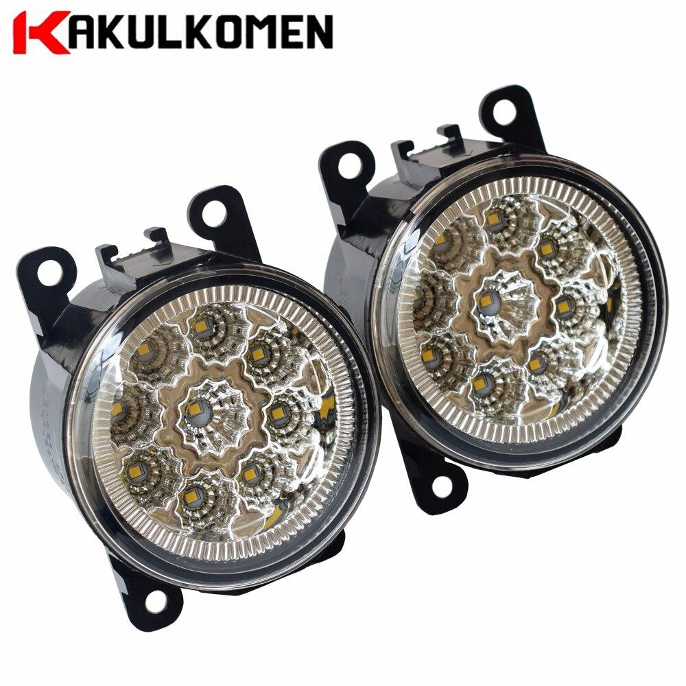 Car DRL Daytime Running Light 90mm Round Fog Lights For Nissan Note E11 MPV 2006-2013 LED Fog Lamp Light 9W 12V