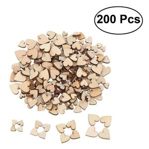 200 Pcs Blank Heart Wood Slices Discs for DIY Crafts Embellishments(China)