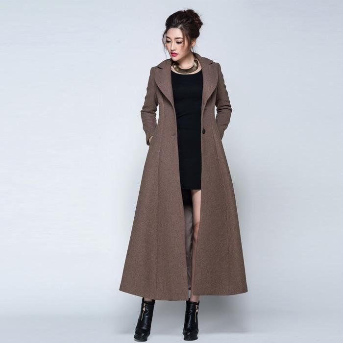 a2f30a070083 casaco feminino 2015 new winter coat women long wool manteau ...