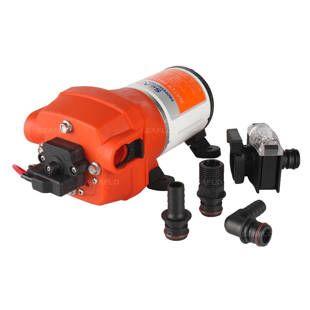 SEAFLO 12 V 4 Chamber Small Powered Water Transfer Pump 2.7 GPM 17PSI 4.5A Marine RV Boat Pond Fountain Self Priming macerator pump seaflo 12 gpm 12v waste pump for macerating toilet marine rv unlike jabsco shurflo rule