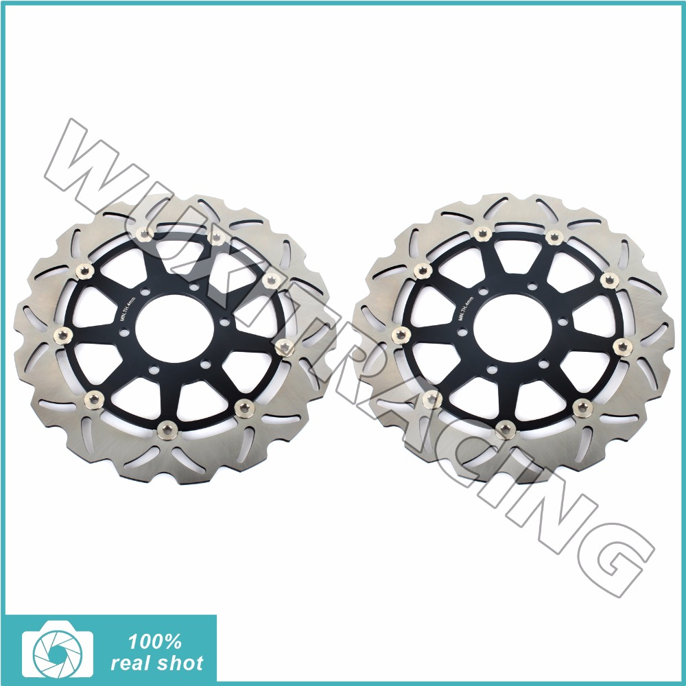 2pcs Front Brake Discs Rotors for TRIUMPH SPEED TRIPLE T509 T955 97-01 98 99 00 DAYTONA T595 T955i 96-01 SPRINT RS ST 955 98-04 long straight new cnc adjustable brake clutch levers for triumph speed four speed triple daytona 600 650 955i sprint st rs gt