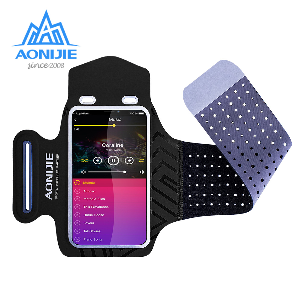 AONIJIE A892 Water Resistant Cell Mobile Phone Sports Running Armband Arm Bag Jogging Case Holder Cover For Fitness Gym Workout
