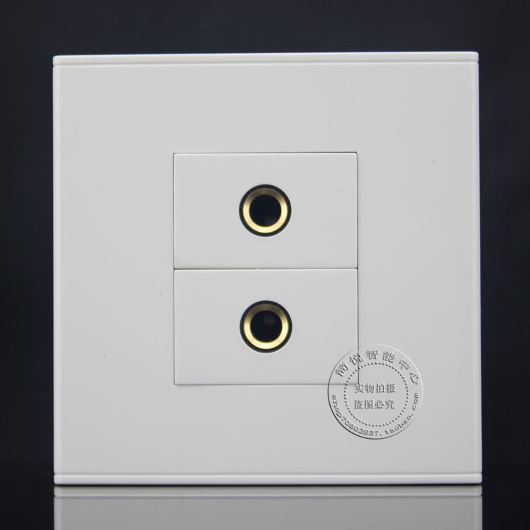 Wall Face Plate Dual Plate 6.35mm/6.5mm Audio Microphone Jack Outlet Faceplate wall face plate rca av audio tv jack outlet socket assorted panel faceplate