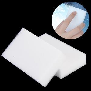 Image 4 - 20 piezas Borrador de esponja de melamina blanca, 100x58x20mm, para cocina, oficina, accesorio de limpieza para baño/limpieza de platos Nano 40