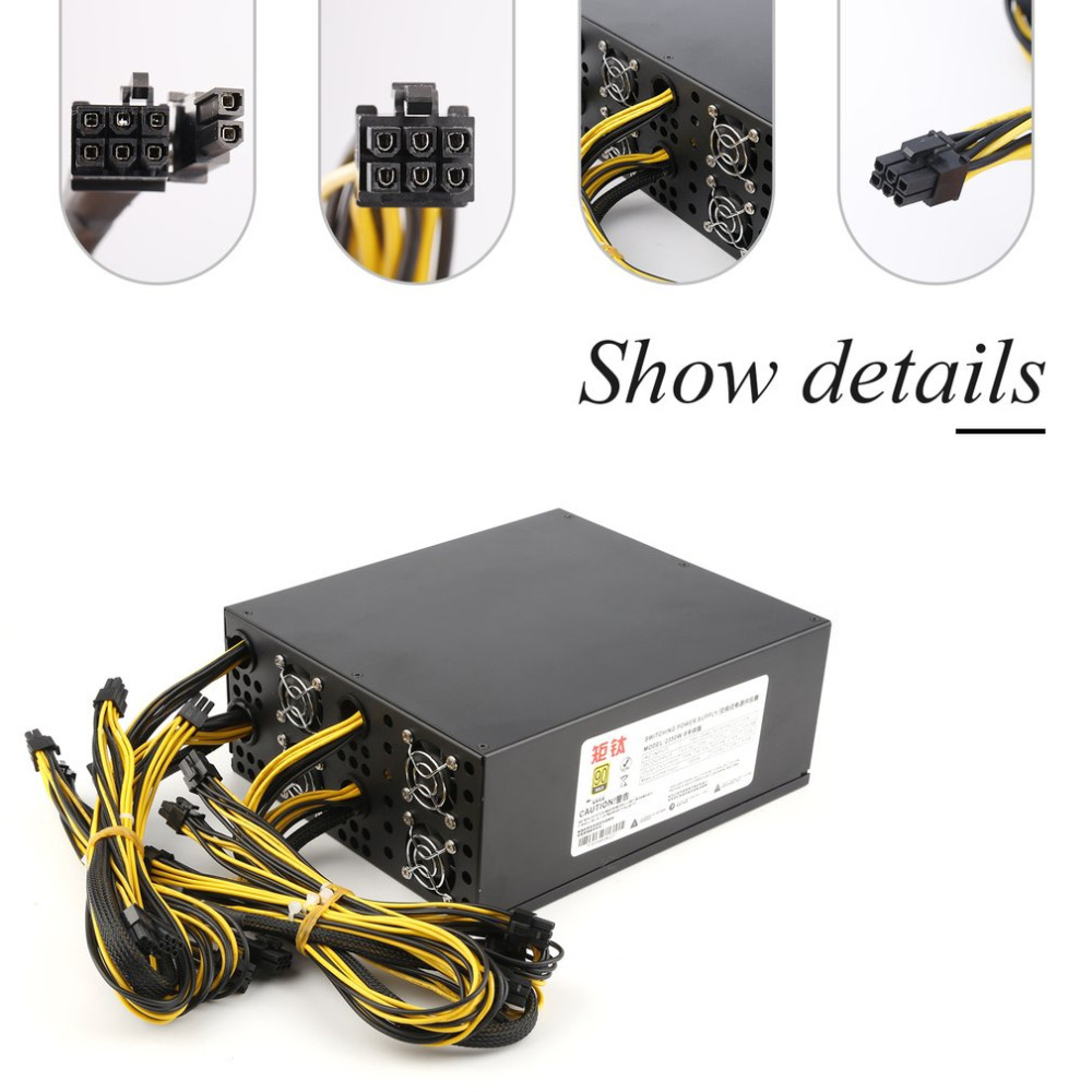 2350W 12V Switching Power Supply for S9 S7 T9 A7 E9 Double Miner Rig BTB LTC ATC Coin Mining Miner Mining Machine 1600w psu ant s7 a6 a7 s7 s9 l3 miner machine server mining board power supply