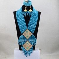 Handmade African Jewelry Sets Rare Nigerian Beads Jewelry Set Free Shipping ABC017