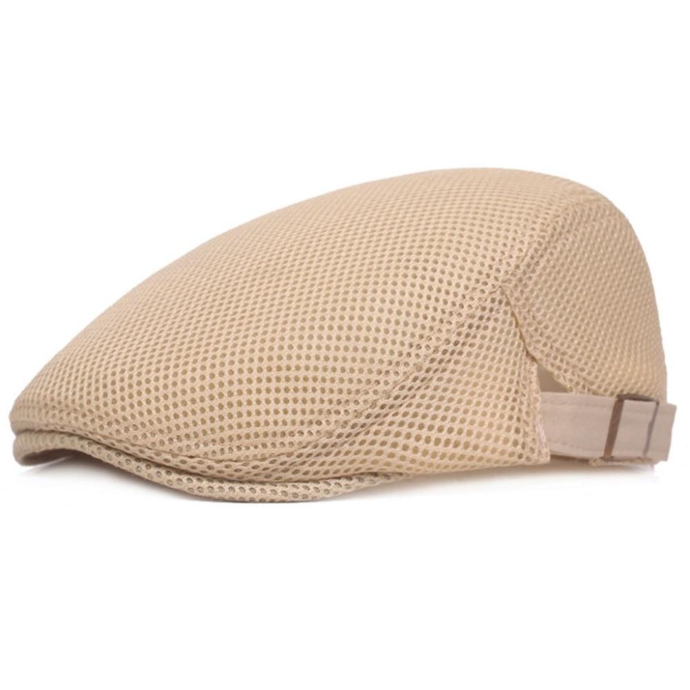 Sombrero de pico de pato de verano de malla transpirable para hombre ... 5c503a68903