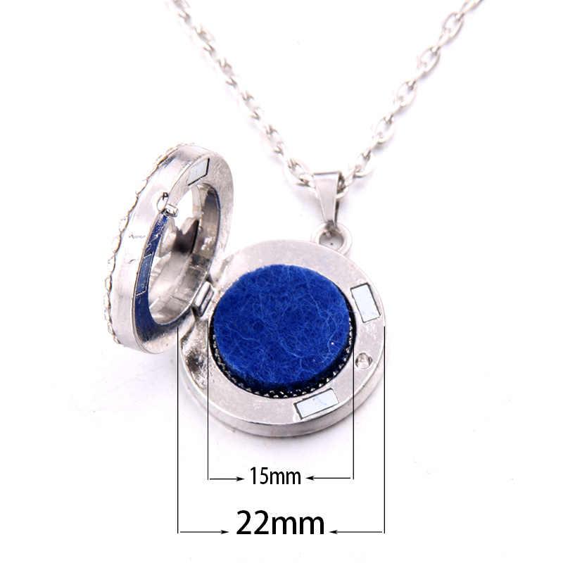 2019 новый стиль циркониевое ожерелье Ароматический диффузор из нержавеющей стали подвеска на шею парфюм эфирное масло ароматерапия медальон подарок