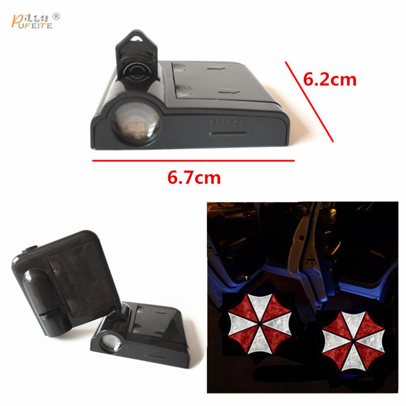 2PCS Wireless Car Door Shadow light for skoda Octavia Superb yeti LED Welcome Lamps LED Laser Ghost Shadow Projector Lamp sunkia led pathway lighting welcome lamp angel wings light projector ghost shadow puddle for all cars and motorcycles