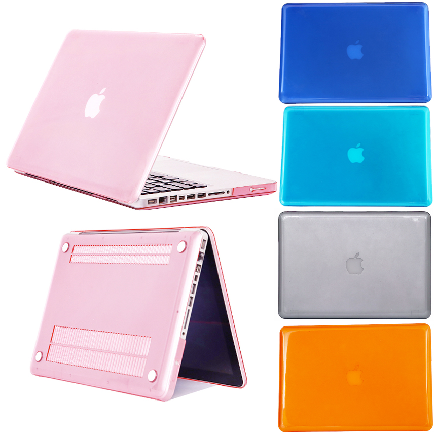 Crystal Clear Coque For Macbook Pro 13 15 CD ROM A1278 A1286 Laptop Case Transparent PVC Cover For Macbook Pro 13 15 CD ROM Case