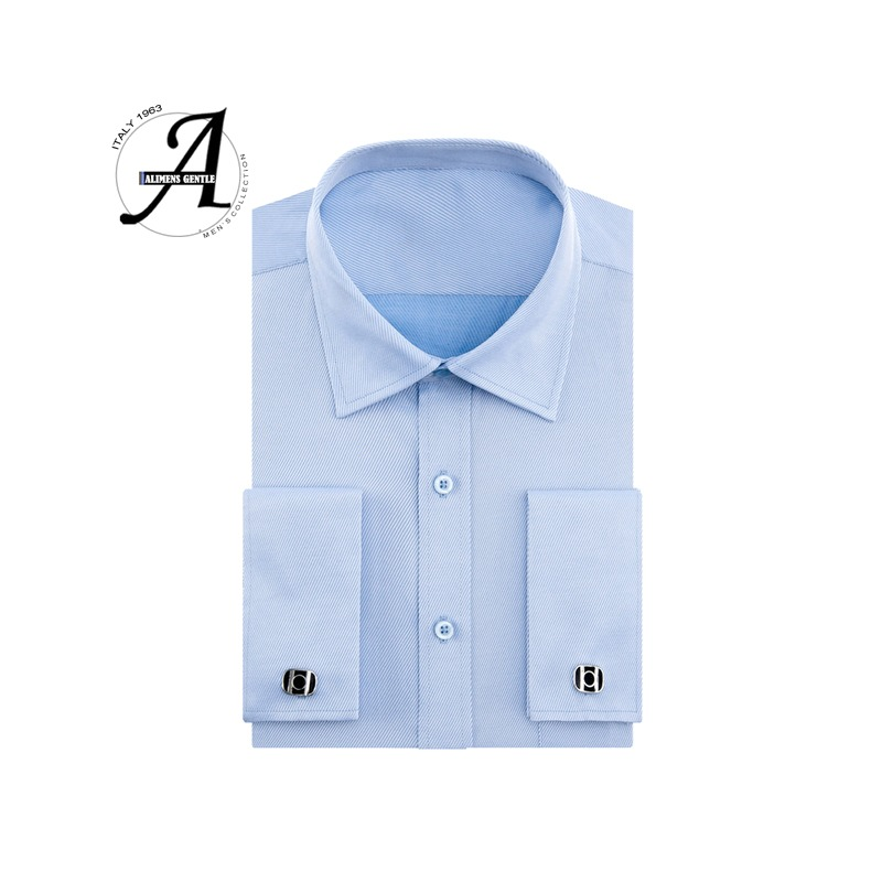f7757be6236ce 2019 New French Cuff Button Men Dress Shirts Classic Long Sleeve ...