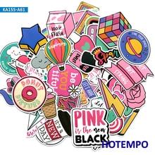 60pcs Pink Girls Fun Cartoon Stickers for Mobile Phone Laptop Luggage Guitar Case Skateboard Fixed Gear Bike Moto Car