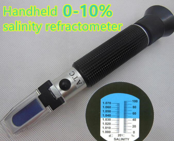 Handheld Salinity Refractometer with Built-in LED light  for Aquarium Clinic Laboratories  0~10%  ATC 50% off  цены