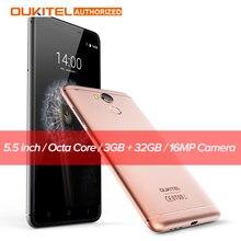 Oukitel U15 Pro Android 6.0 5.5 дюймов 4 г смартфон MTK6753 Octa core 3 ГБ Оперативная память 32 ГБ Встроенная память 13.0MP Камера отпечатков пальцев мобильный телефон