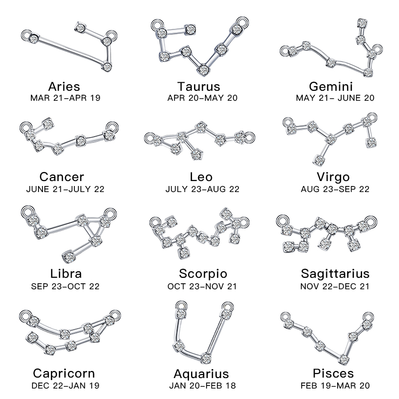 MISANANRYNE Fashion 12 Zodiac Constellation Anklets Women Vintage Sliver Color Crystal Anklet Bracelet On Leg Bohemian Jewelry in Anklets from Jewelry Accessories