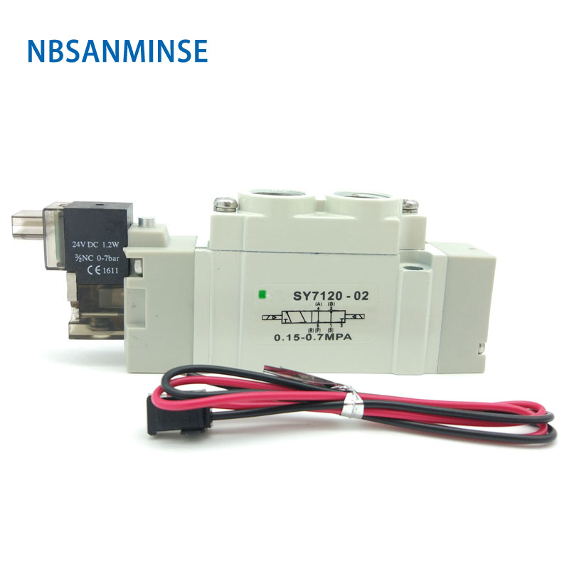 NBSANMINSE SY 7000 G 1/4 High Quality Mini Solenoid Valve Normal Close Internal Pilot SMC Type Automation Valve