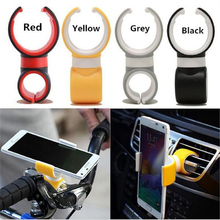 hot New Universal 360 Degrees Air Vent Mount Bicycle Car Cell Phone Holder Stands for iPhone 6 Plus/5s/5/4s