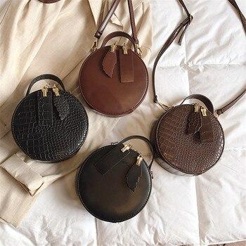 2b17520661d0 TOYOOSKY брендовые дизайнерские женские мини-круглые сумки крокодил сумка- мессенджер с орнаментом Круг Леди Топ-ручка сумки кошельки клатчи