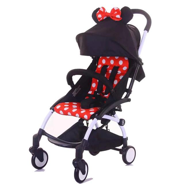 Cochecito de Bebé cochecito para niños carro de Aluminio Cochecito de Bebé paraguas coche plegable de Un Solo toque Simple amortiguador ligero