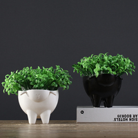 creative small ceramic pots for plants abstract black and white sheep flower pot vase decoration home decorative fruit bowl