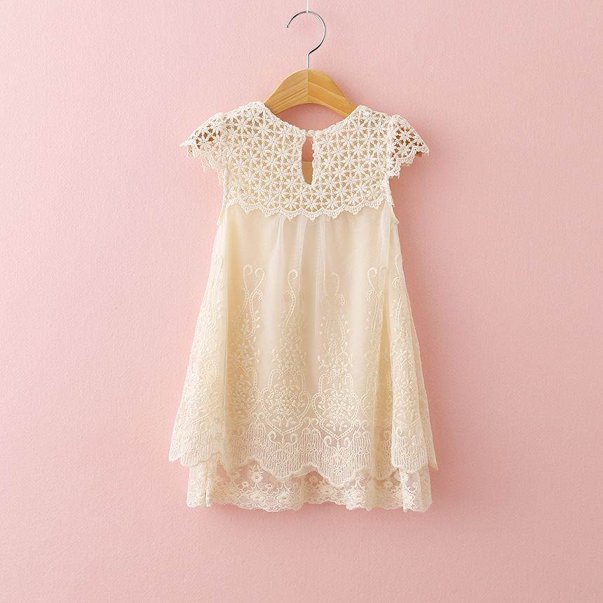 Cream Lace Girls Dresses Boutique