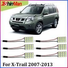 ShinMan 6X светодиодный автомобильный светильник, Автомобильный светодиодный светильник для салона автомобиля, для Nissan X-Trail T31 светодиодный светильник для чтения, 2007-2013 светодиодный светильник для интерьера, комплект