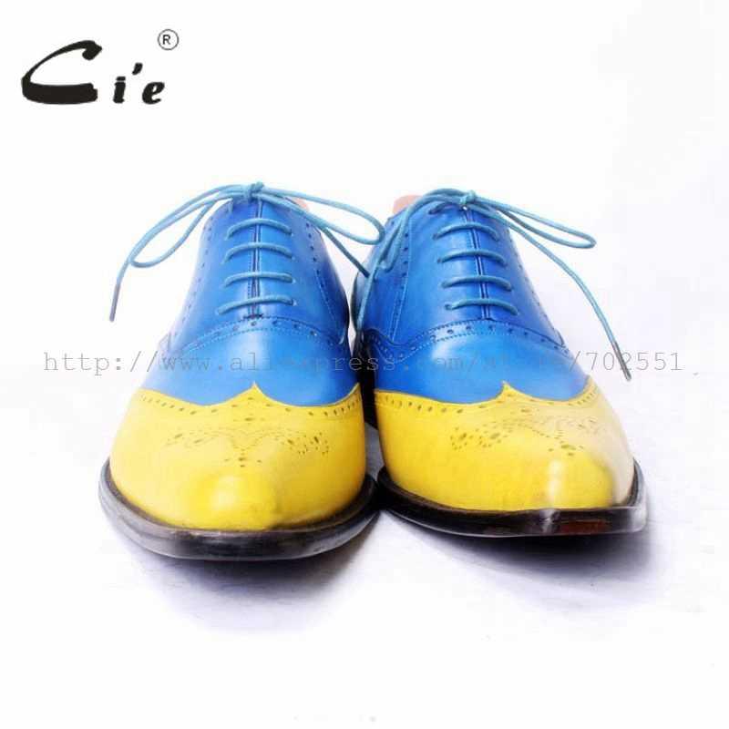 Cie BespokeMenรองเท้าที่ทำด้วยมือผู้ชายรองเท้าผู้ชายO Xfordsหนังบริสุทธิ์Size6-14หนังลูกวัวOutsoleระบายอากาศที่มีคุณภาพสูงOX371
