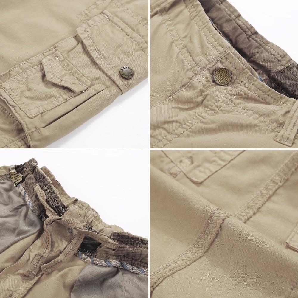 HALACOOD vasaros medvilnės vyrų kariniai šortai vasaros vyrų - Vyriški drabužiai - Nuotrauka 2