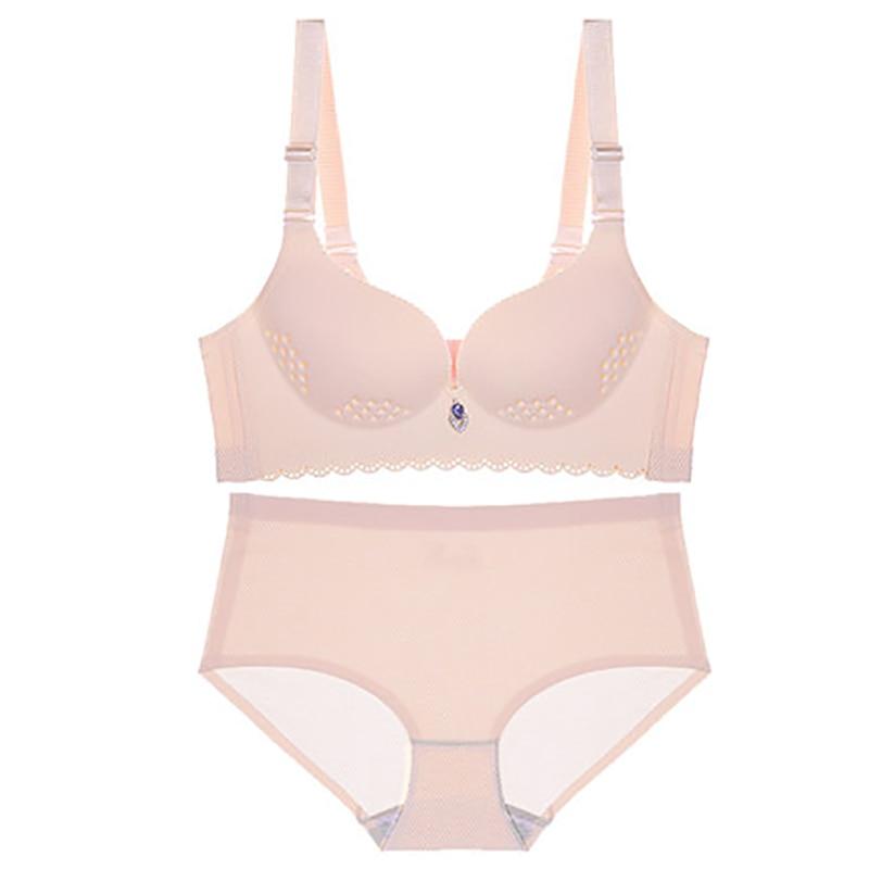 Spring Bras Briefs Set For Women Seamless Lingerie Panties Bralette Ultrathin Cup Brassiere Fashion Underwear Dropshipping D in Bra Brief Sets from Underwear Sleepwears