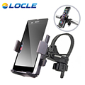 LOCLE ABS Handlebar For Cell Phone GPS Bicycle Handle Mount Cradle Bike Bicycle Phone Holder Support Case Motorcycle