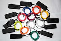 2 m/3 m/5 m 3V luz de neón brillo Flexible EL Cable cinta Cable tira LED luces de neón Zapatos Ropa coche decorativo cinta lámpara