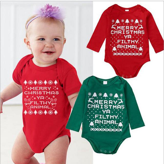 Bodysuits Do Bebê Manga longa Bebê Da Menina Do Natal Uma Peças de Roupa Do Bebê Macacões Meninos Roupas de Bebê Bodysuit