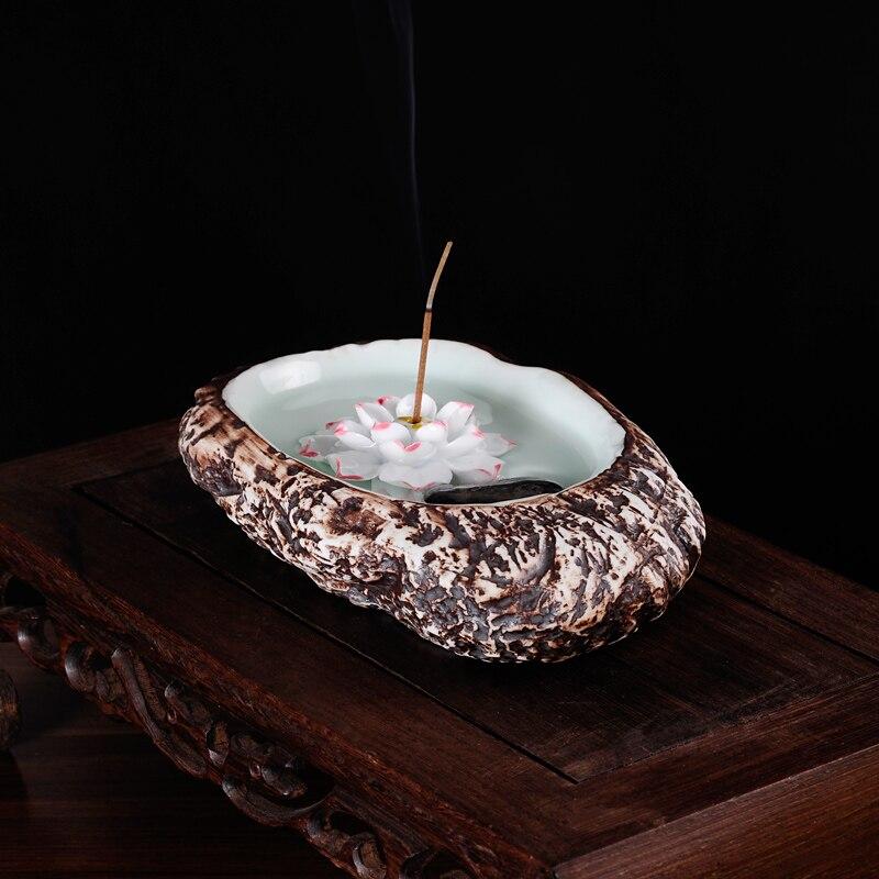 Roxo cerâmica clássica belas antigo incenso em promoções de produtos de incenso stick conectado Lótus Azul