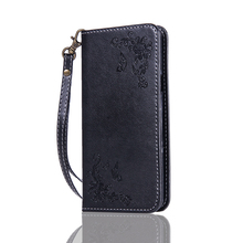 Rose Flower Butterfly Magnetic Leather Phone Case For Samsung Galaxy A900 Card Slot Cover CL1337