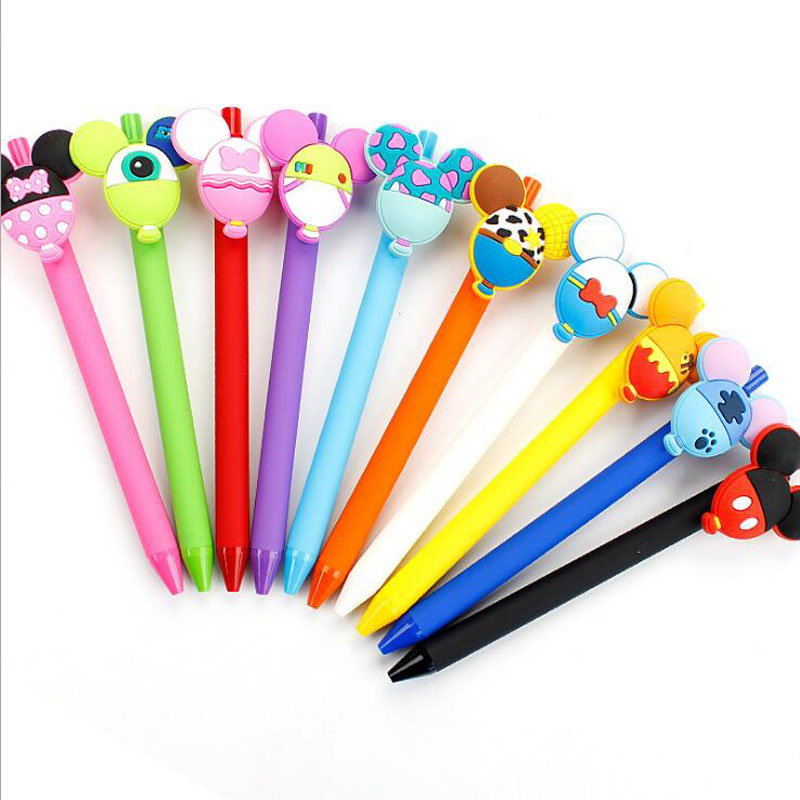 24pcs/lot Cartoon Animal Balloon Gel Pen Kawaii 0.5mm Black Pen Kid Gift Papelaria Stationery Office & School Supplies G021