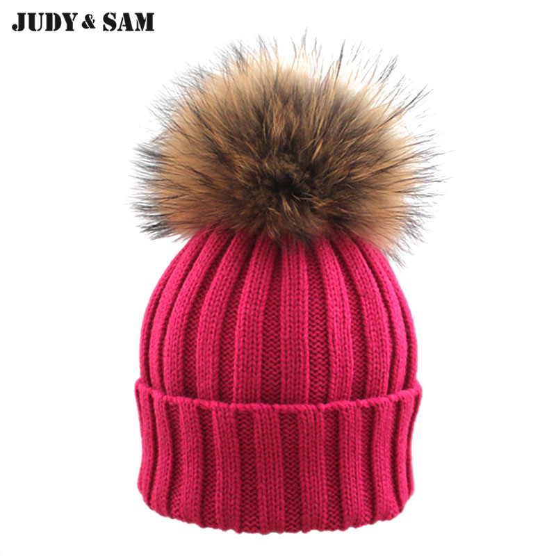 Quality In Straightforward Hot Sale Warm Beanie Hat Knitted Skullies Beanies Winter Hats For Children Solid Caps Bonnet With Pompom Kniiting Turban Cap Superior