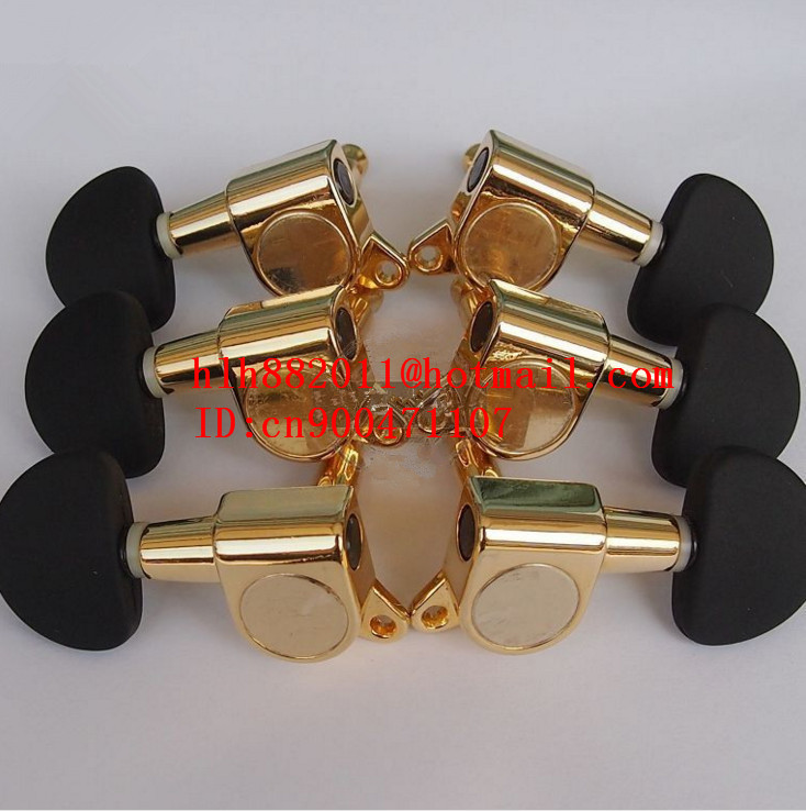 free shipping new  electric guitar and acoustic guitar 3L+3R tuning peg  guitar button in gold  N22 цена и фото