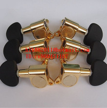 free shipping new  electric guitar and acoustic guitar 3L+3R tuning peg  guitar button in gold  N22